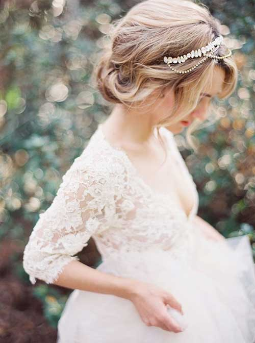 Beautiful Romantic Updo with Jeweled Hair