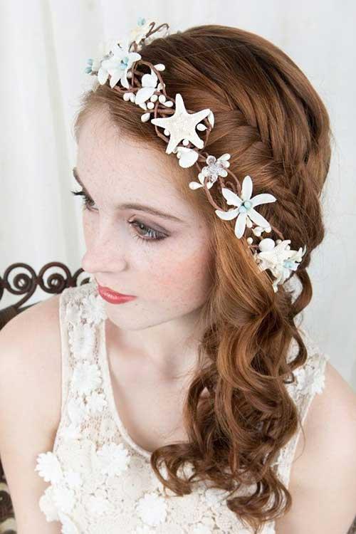 Seashell Hairband for Wedding Hairstyles