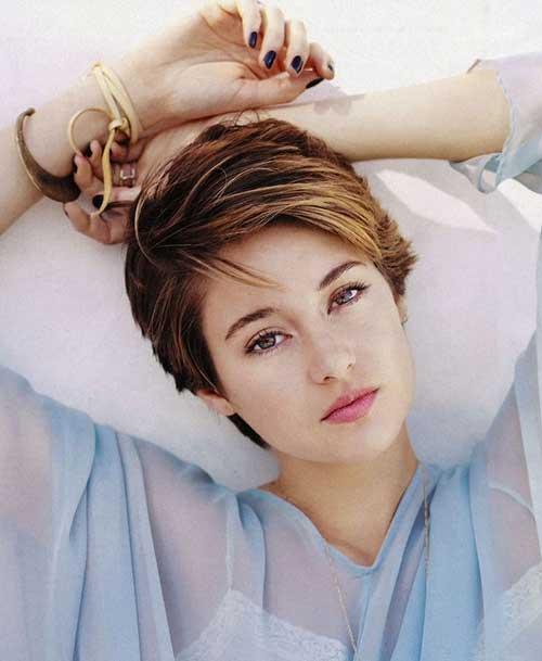 Shailene Woodley Pixie Short Hair