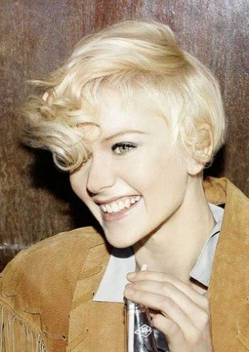 Short Blonde Curly Pixie