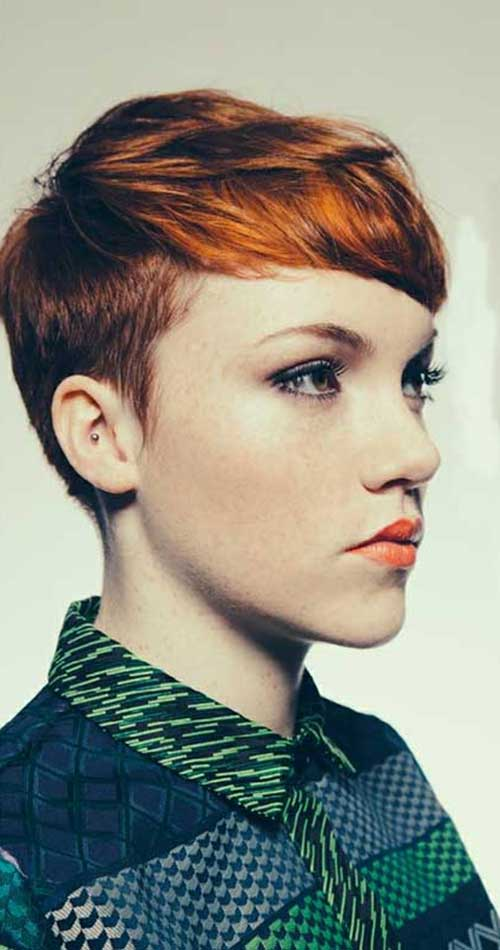 Short Red Pixie Cuts 2015