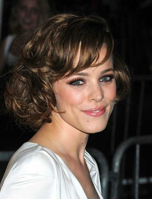Short Wavy Haircuts for Women with Bangs