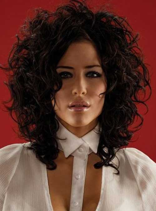Short to Medium Dark Thick Hairstyles for Curly Hair