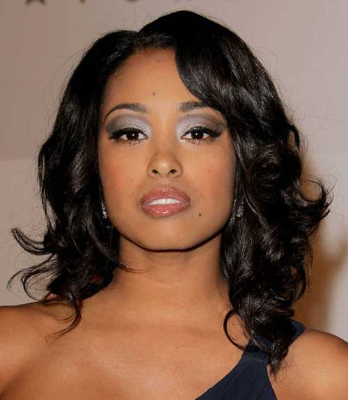 Shoulder Length Curly Hairstyles for Black Women