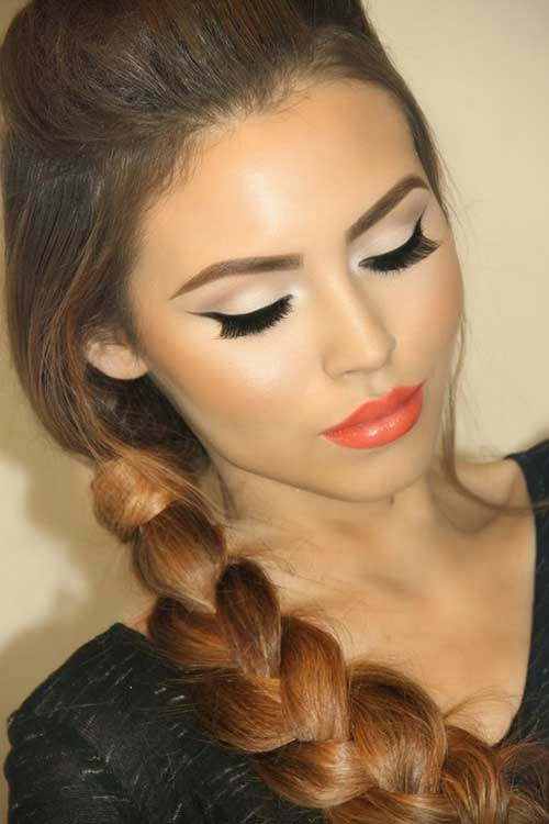 Side Braided Long Hair Idea