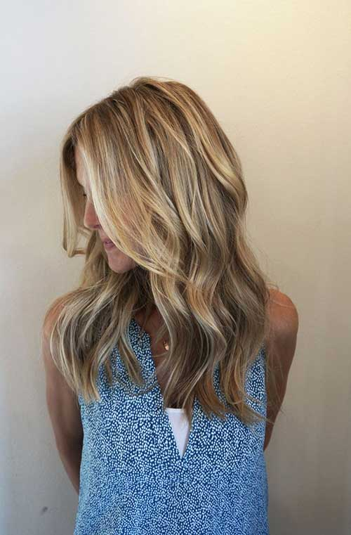 Simple Blonde and Brown Colored Hair Ideas