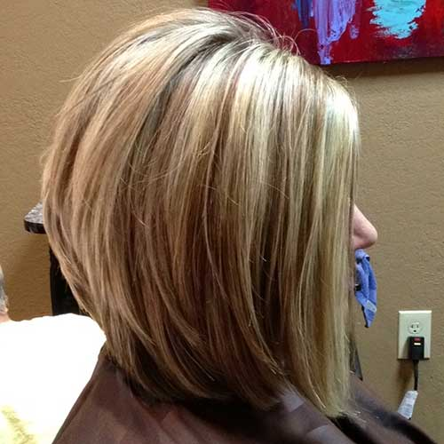 Short Medium Stacked Bob Haircuts