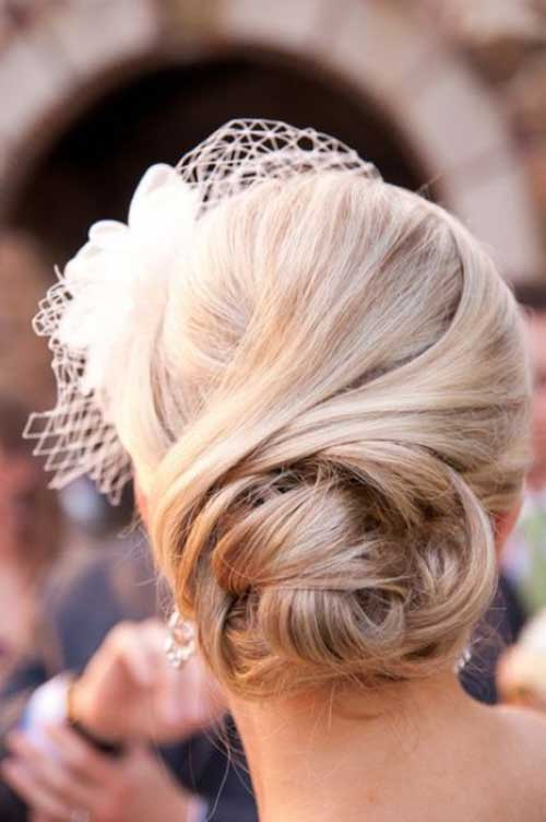 Best Straight Updo for Wedding