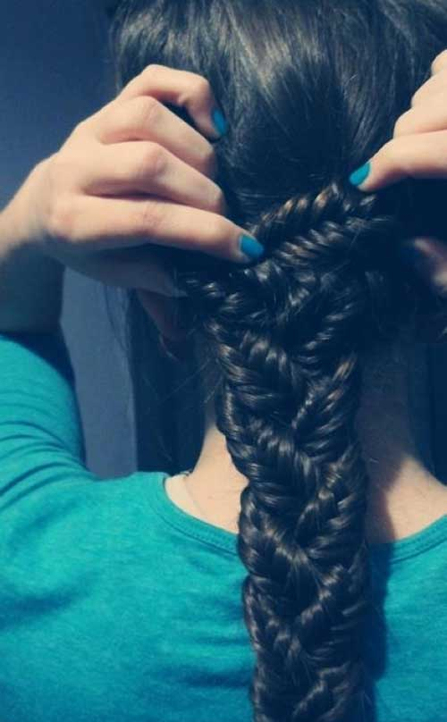 Nice Thick Braid Dark Long Hair