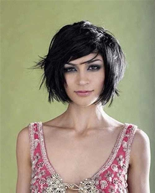 Dark Short Hair for Prom Idea