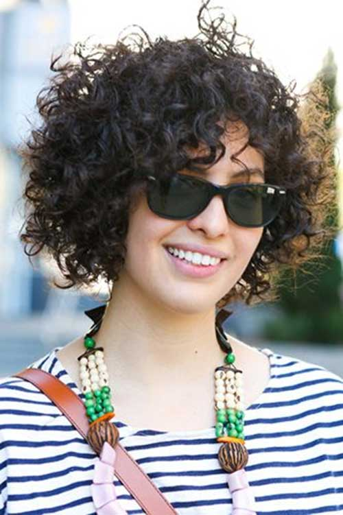 Thick Dark Short Curly Hairdo