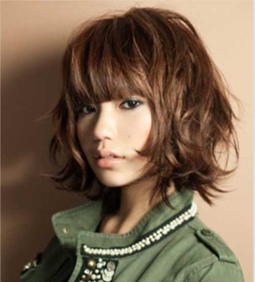 medium hair length styles with bangs 15 thick medium length hairstyles hairstyles amp haircuts 6284
