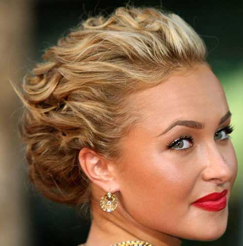Tight Curly Updo Hairstyles