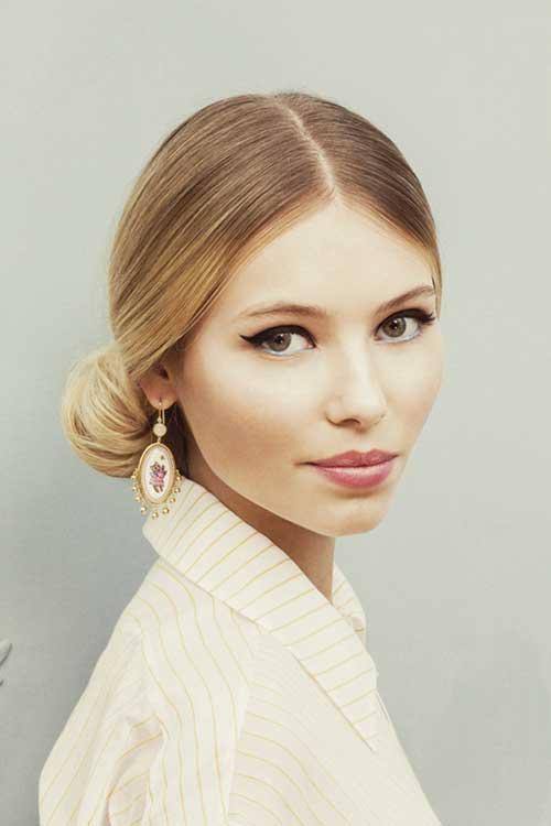 Ulyana Sergeenko Bun Hair