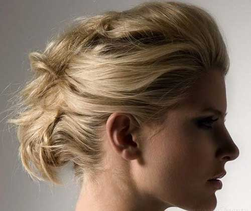 Coolest Updos for Short Blonde Hair