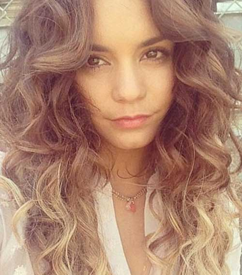 Vanessa Hudgens Long Layered Curly Hair