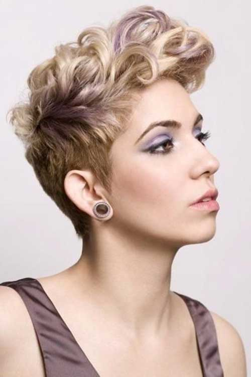 Very Short Pixie Hair Curls