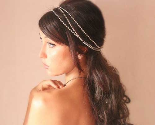 Wedding Accessories for Long Brown Hair
