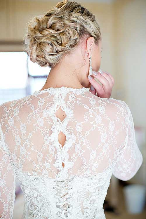 Wedding Hair Braids Back View