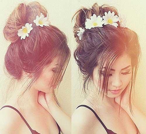 Cute Wedding Hair Buns Images