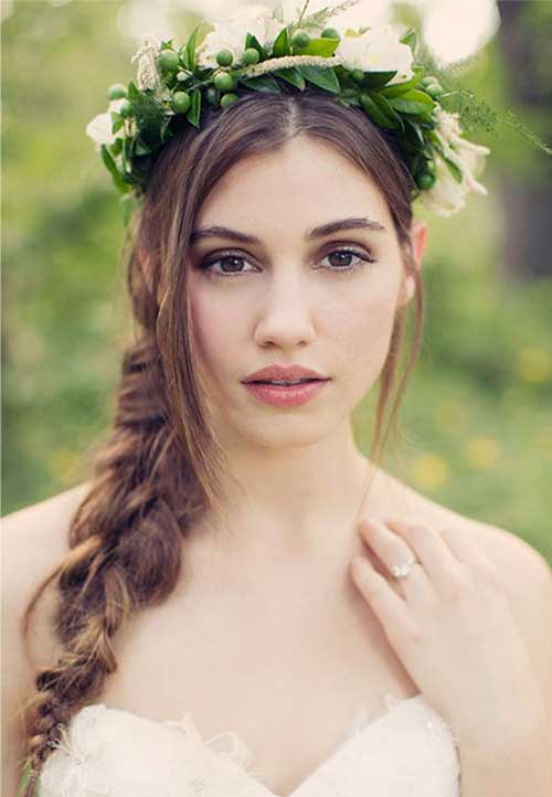 Wedding Hairstyles One Side Braided