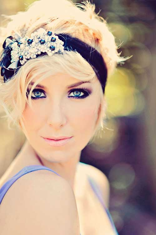 Wedding Blonde Hairstyles Short Hair