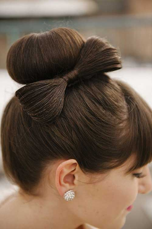 Hair Bow Wedding Hairstyles Updos Bun