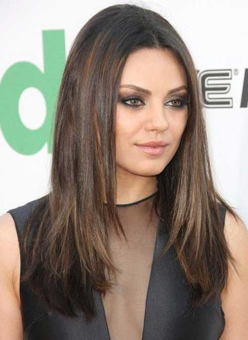 20+ Best Long Hairstyles for Round Faces   Hairstyles and ...