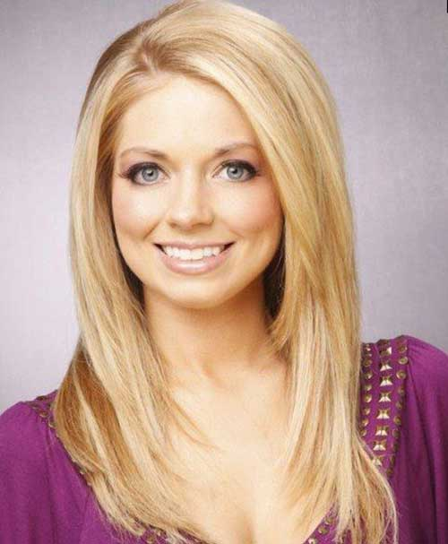 Long Hairstyles for Round Faces-11