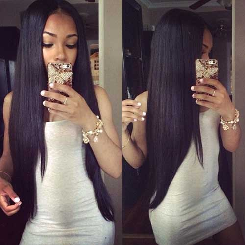 Hairstyles for Black Girls with Long Hair-16