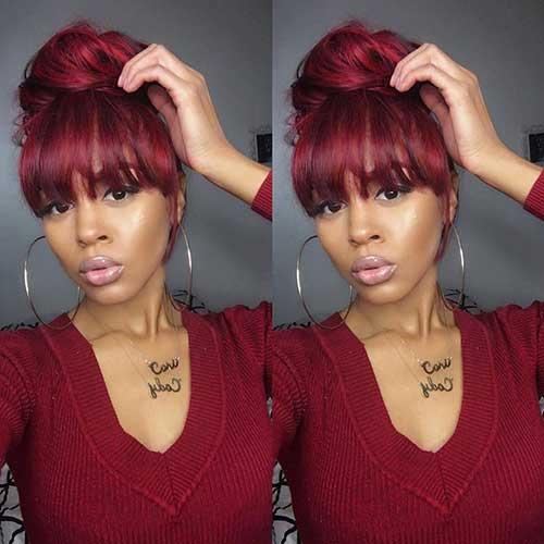 Bun Hairstyles with Bangs-7