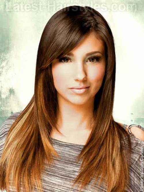 Hairstyles with Side Swept Bangs-10