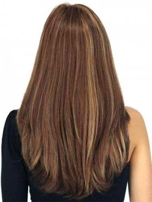Long Layered Haircuts Back View Black