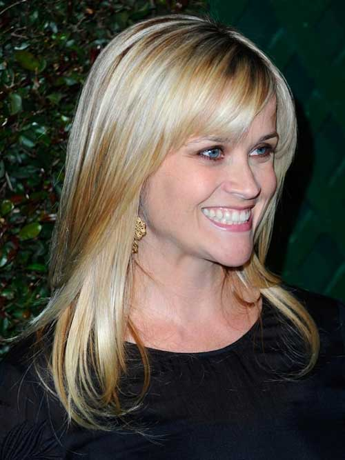 Hairstyles with Side Swept Bangs-14