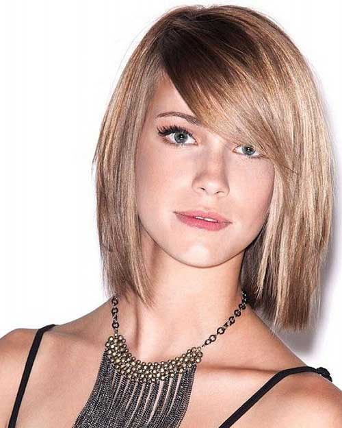 Hairstyles with Side Swept Bangs-16