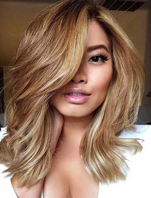 Hairstyles with Side Swept Bangs-7