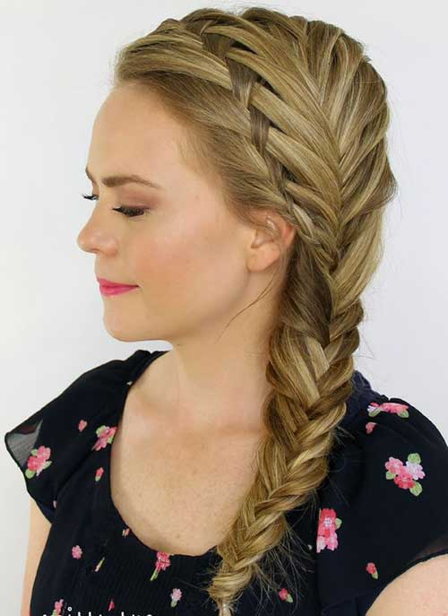 Hairstyles with Fishtail Braids