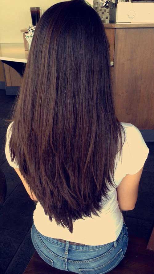 Long Layered Haircut Back View