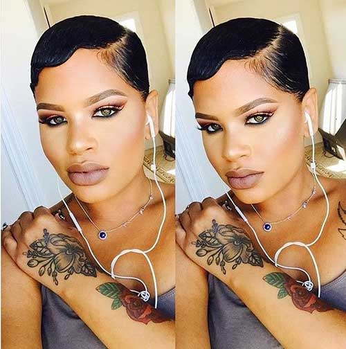 Long Pixie Slicked Hairstyles
