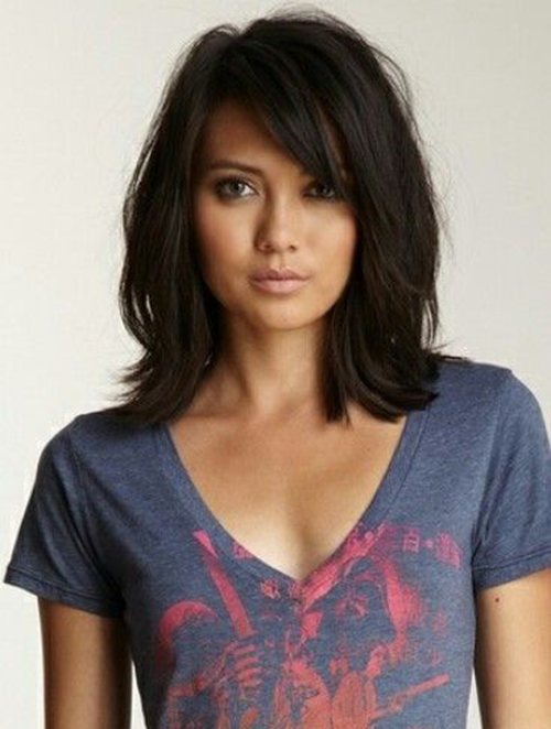 Imagenes De Mid Length Hairstyles For Round Face