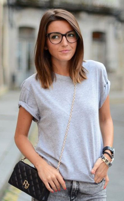 Hairstyles for Women with Glasses-19