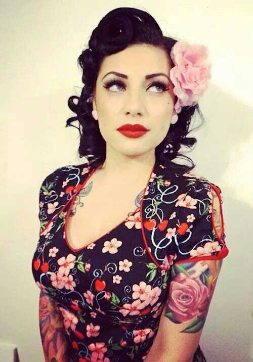 pin up style hair rockabilly style hair for hairstyles amp haircuts 1826