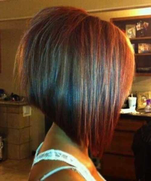 Angled Thick Bob Haircuts