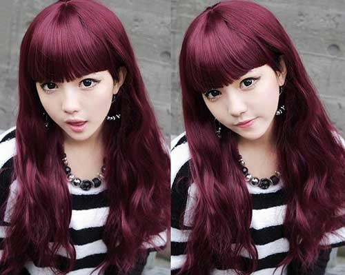 Best Asian Long Hair with Bangs