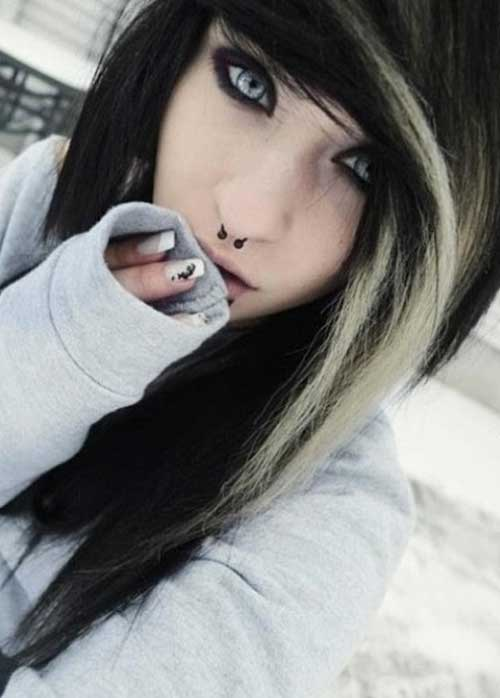 Best Black Blonde Emo Hairstyles