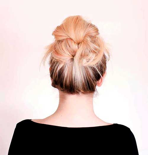 Blonde Hairstyle Messy Bun Ideas