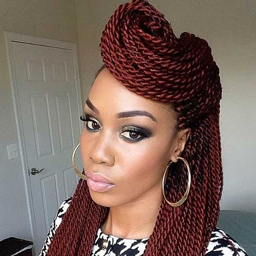 Cute Twists Braids Hairstyles for Black Women