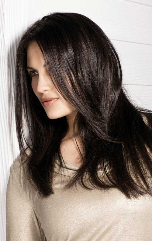 Dark Brown Long Layered Hairstyles