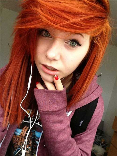 Pictures of Emo Ginger Hairstyles