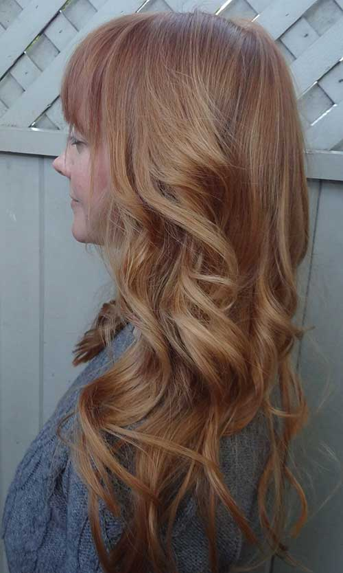 Gorgeous Long Strawberry Blonde Hairstyles